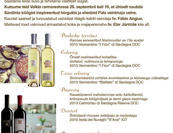 Veiniõhtusöögi kutse