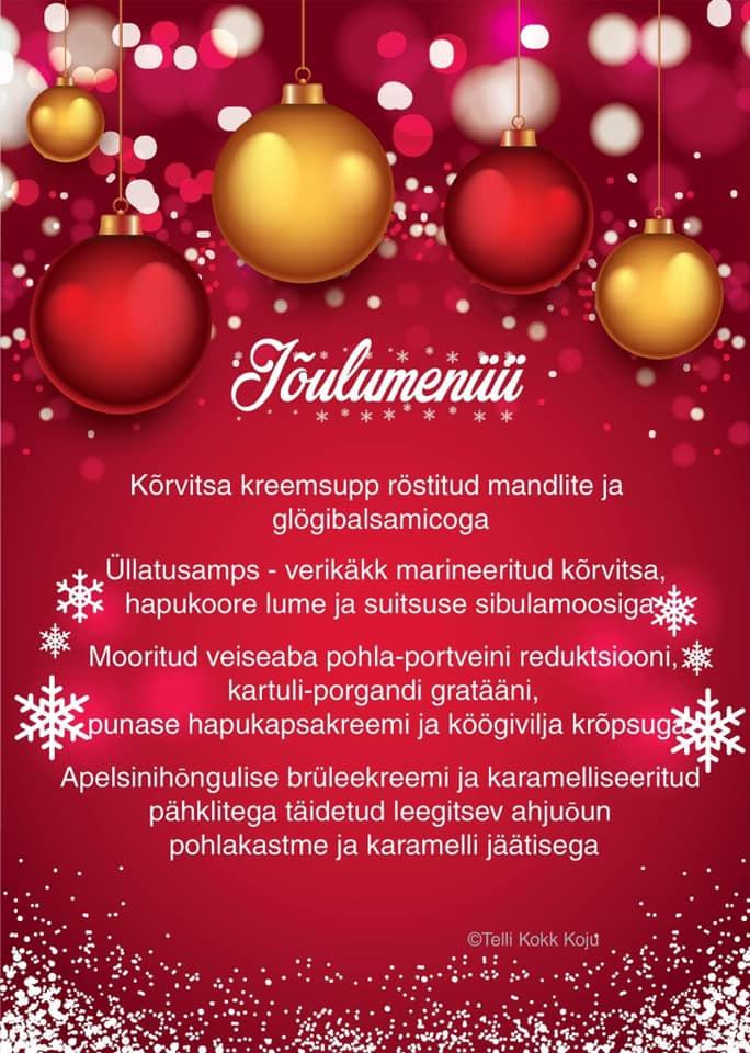jõulumenüü